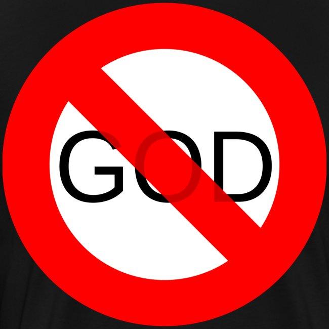 Znak zakazu - No God