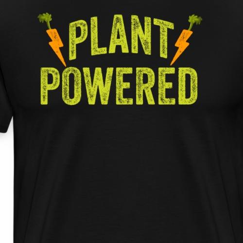 Plant Powered T-Shirt Veganer T-Shirt Geschenk - Männer Premium T-Shirt