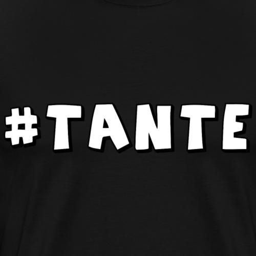 Hashtag Tante - Männer Premium T-Shirt