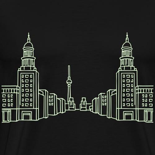Frankfurter Tor Berlín - Mannen Premium T-shirt