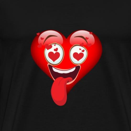 Emoji coeur - T-shirt Premium Homme