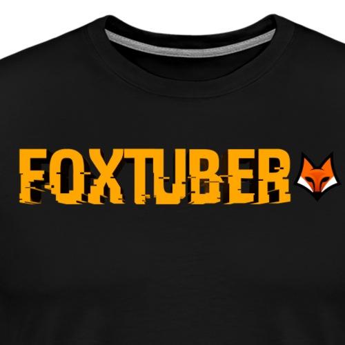 FoxTuber text - Mannen Premium T-shirt