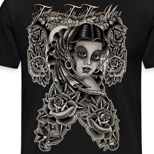 Gipsy Lady Flamenco Girl Chica Tattoos to the Max - Männer Premium T-Shirt