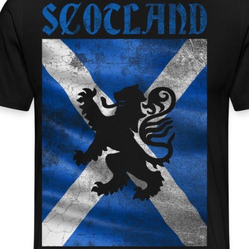 Scotland Vintage Retro Flag - Männer Premium T-Shirt