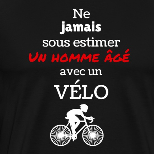 Homme âgé à vélo 2 - T-shirt Premium Homme