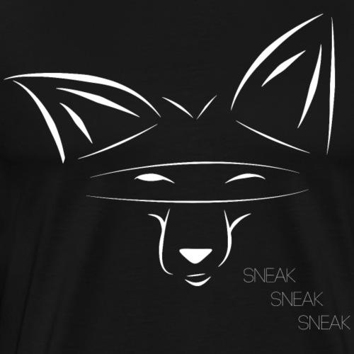 SneakyFox White - Men's Premium T-Shirt