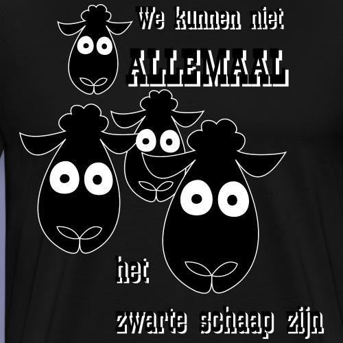 Zwarte schaap - Mannen Premium T-shirt