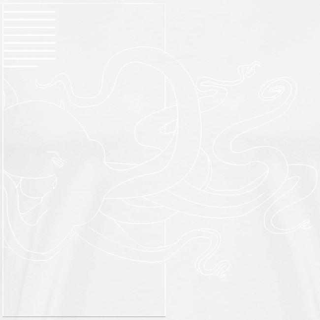 Tintenfisch-Logo Weiss