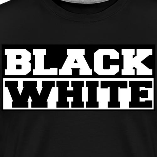 Black and White Schwarz und Weiß Geschenkidee - Männer Premium T-Shirt