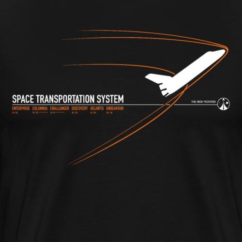 Space Shuttle (stampa arancione) - Maglietta Premium da uomo