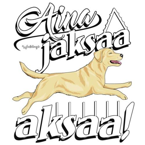 Labradori Jaksaa Aksaa - Miesten premium t-paita