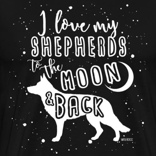 German Shepherd GSD Moon - Men's Premium T-Shirt