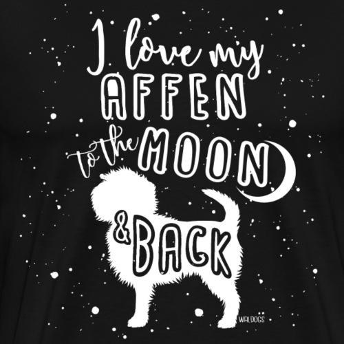 Affenpinscher Moon - Men's Premium T-Shirt