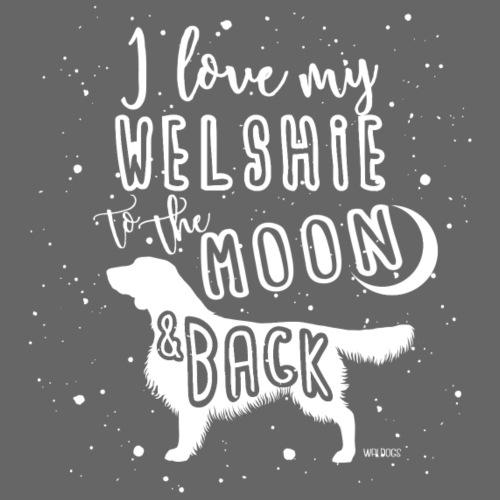 Welsh Springer Spaniel Moon - Miesten premium t-paita