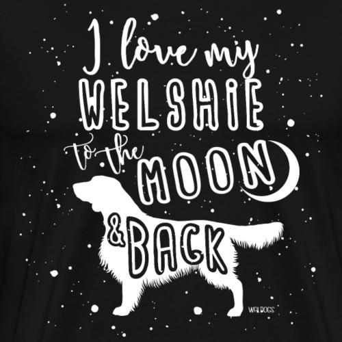 Welsh Springer Spaniel Moon - Men's Premium T-Shirt