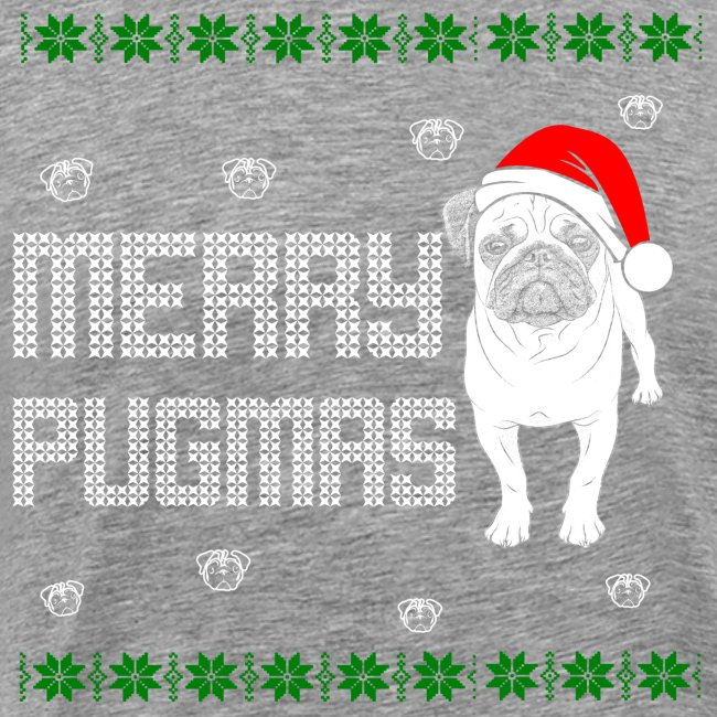 Weihnacht Mops Hund T-Shirt - ugly Christmas