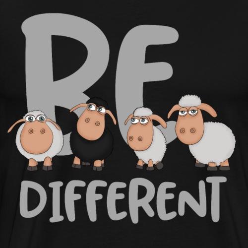 Be different Schafe: Einzigartiges schwarzes Schaf - Männer Premium T-Shirt
