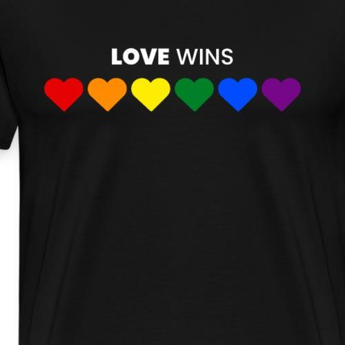 Regenbogen, LGBT, Liebe, Hochzeit, JGA - Männer Premium T-Shirt