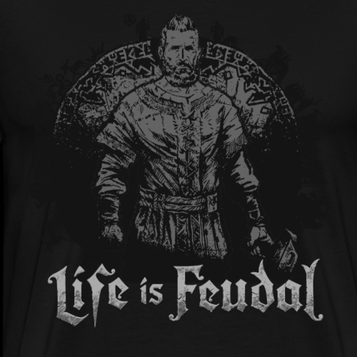 Life is Feudal SteamBadge 2 - T-shirt Premium Homme