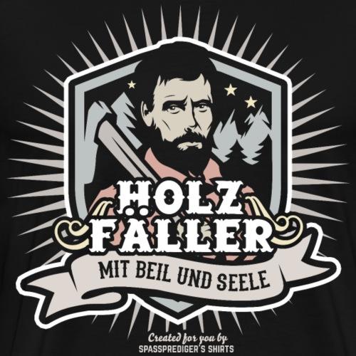 Holzfäller Mit Beil & Seele | spassprediger - Männer Premium T-Shirt