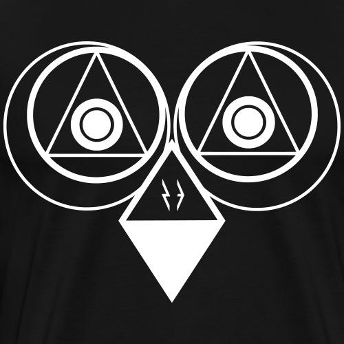 Geometric Owl - Männer Premium T-Shirt