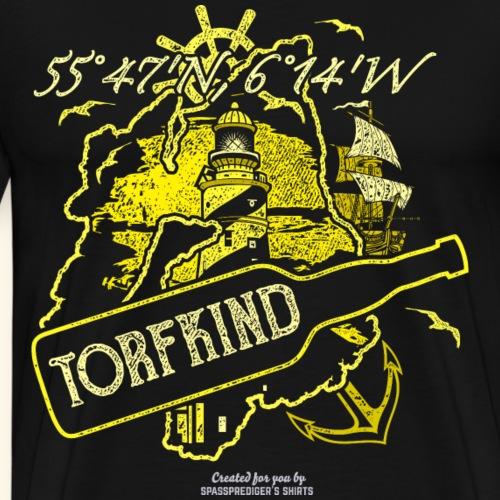 Whisky T Shirt Design Torfkind für Islay Fans - Männer Premium T-Shirt
