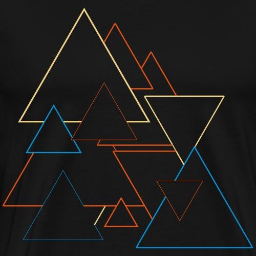 Verrueckte Dreiecke - Männer Premium T-Shirt
