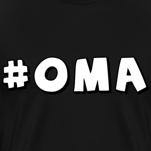 Hashtag Oma - Männer Premium T-Shirt
