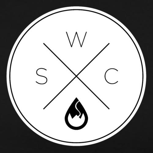 WSC Hipster-Logo rund weiß - Männer Premium T-Shirt