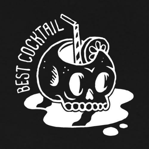 COCKTAIL Skull (Blanc) - T-shirt Premium Homme