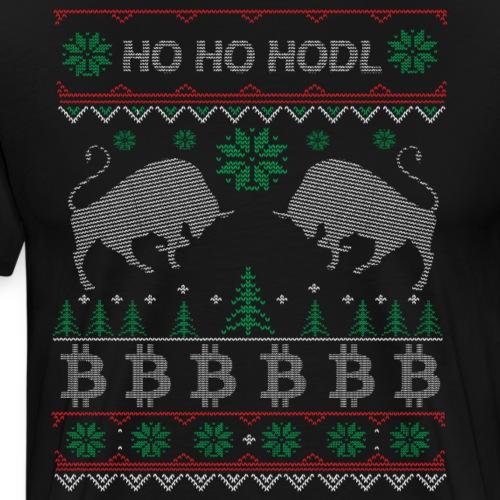 Ugly Christmas Bitcoin Pullover T-Shirt - Männer Premium T-Shirt