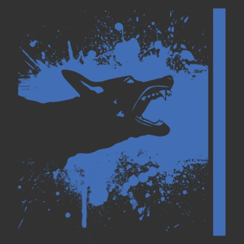 K9 Thin Blue Line - Miesten premium t-paita
