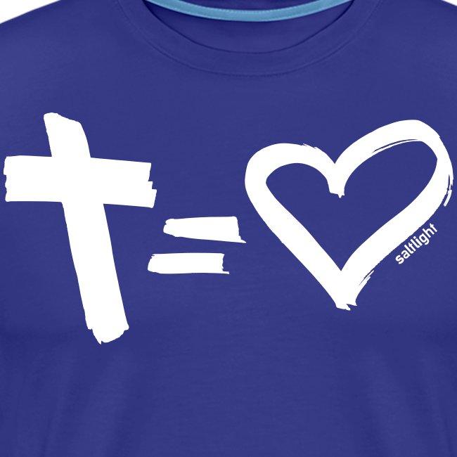 Cross = Heart WHITE // Cross = Love WHITE