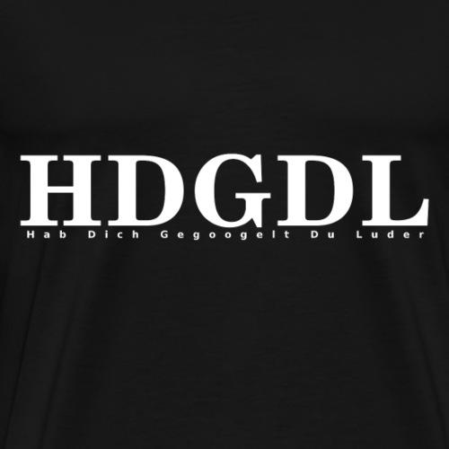 HDGDL weiss - Männer Premium T-Shirt