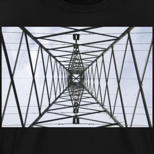 Strommast mit Wolken - Männer Premium T-Shirt