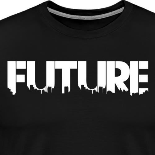Future White - Herre premium T-shirt