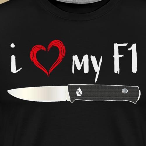 I Love My F1 - Männer Premium T-Shirt