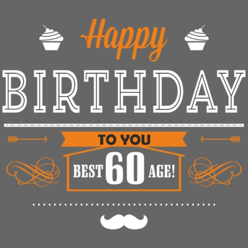 BD - Best age 60 - happy birthday to you retro ice - Männer Premium T-Shirt