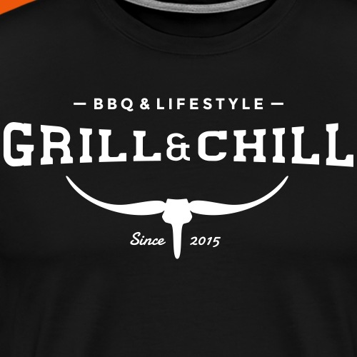 BBQ and Chill / BBQ and Lifestyle logo 2 - Men's Premium T-Shirt
