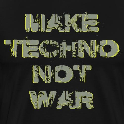 #maketechnonotwar - Männer Premium T-Shirt