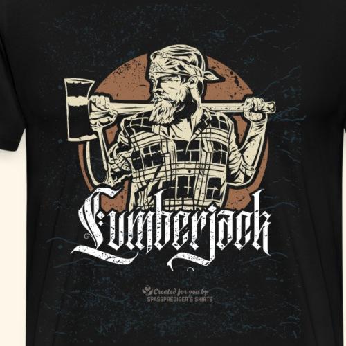 Holzfäller Design Lumberjack - Männer Premium T-Shirt