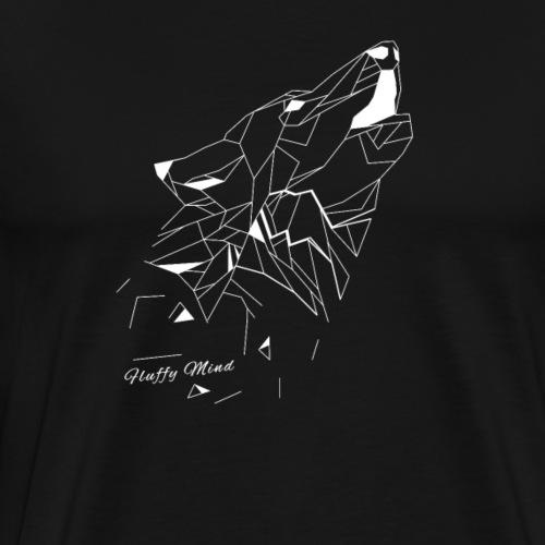 Loup origami - T-shirt Premium Homme