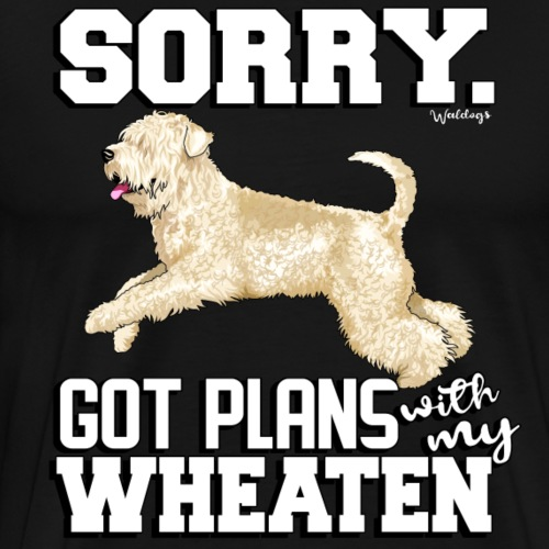 Wheaten Terrier Plans 2 - Men's Premium T-Shirt