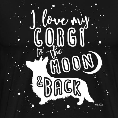 Corgi Moon - Men's Premium T-Shirt