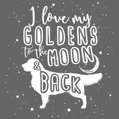 Golden Moon 4 - Miesten premium t-paita