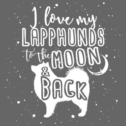 Lapphund Moon - Miesten premium t-paita