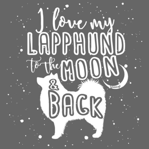 Lapphund Moon 2 - Miesten premium t-paita