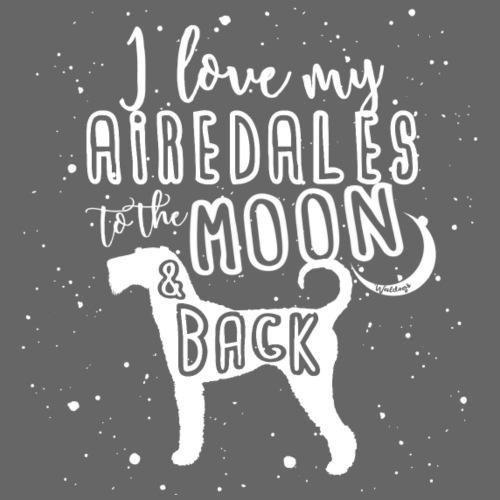 Airedale Moon - Miesten premium t-paita