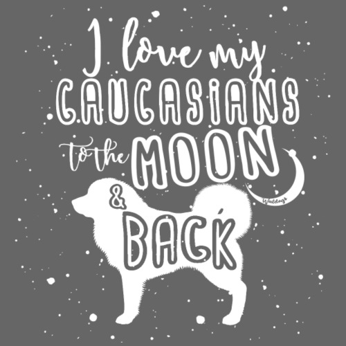 Caucasian Shepherd Moon - Miesten premium t-paita