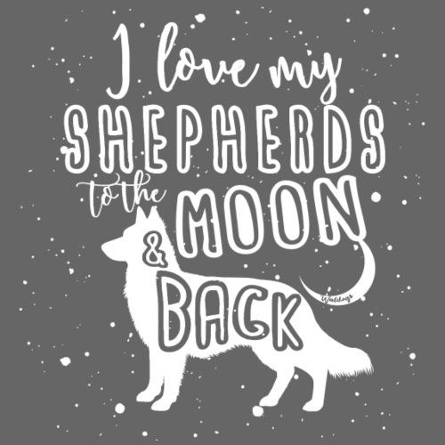 White Shep Moon 2 - Miesten premium t-paita